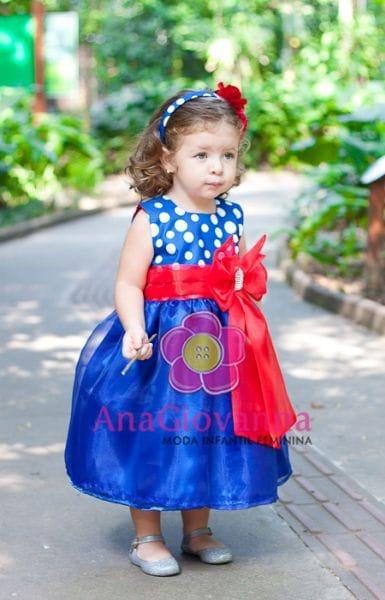 Vestido de Luxo Infantil da Galinha Pintadinha