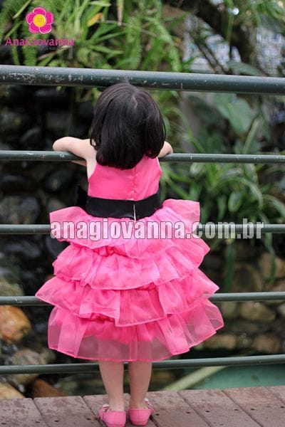 Vestido Luxo Infantil Festa