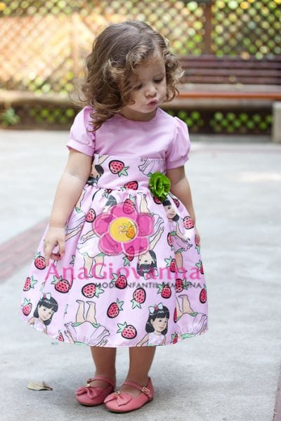 Vestido para Festa Infantil Moranguinho Baby