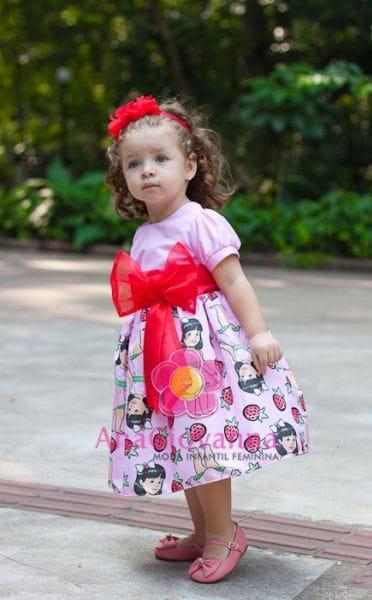 Vestido Infantil da Moranguinho Baby para festa