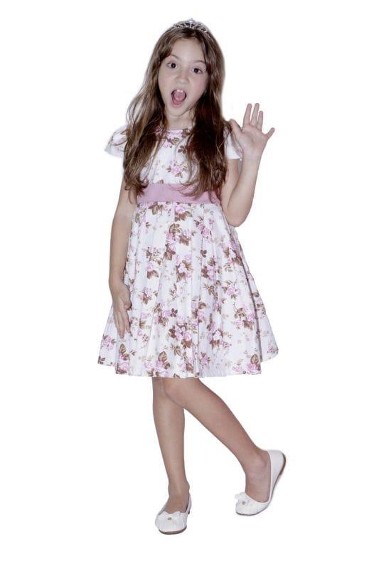 Vestido Infantil para festa de aniversário floral
