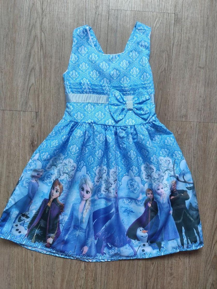 Vestido para Festa da Frozen Infantil