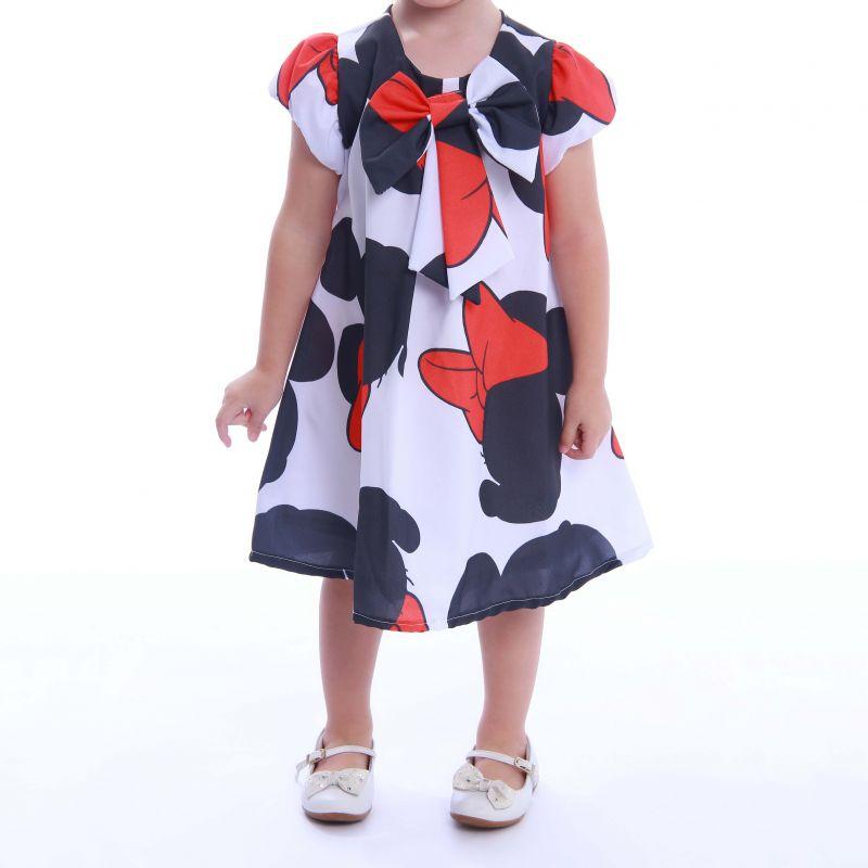 Vestido com Estampa da Minnie