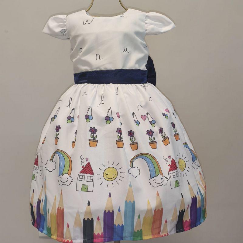Vestido Formatura abc Infantil