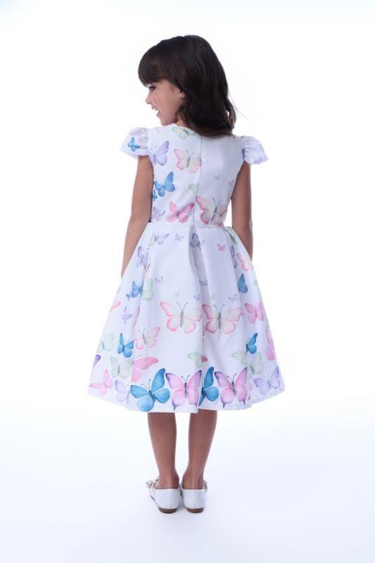 Vestido Infantil Jardim das Borboletas