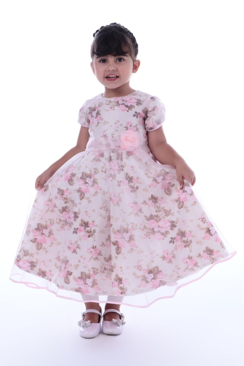 Vestido Infantil Florista