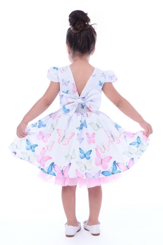 Vestido de Borboletas Infantil
