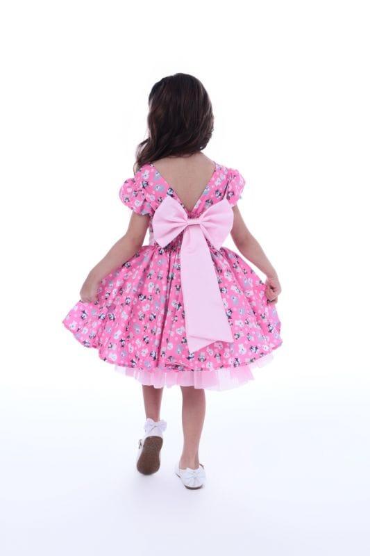 Vestido Infantil Estampa Cachorrinho