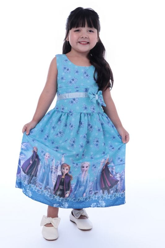 Vestido da Frozen Simples