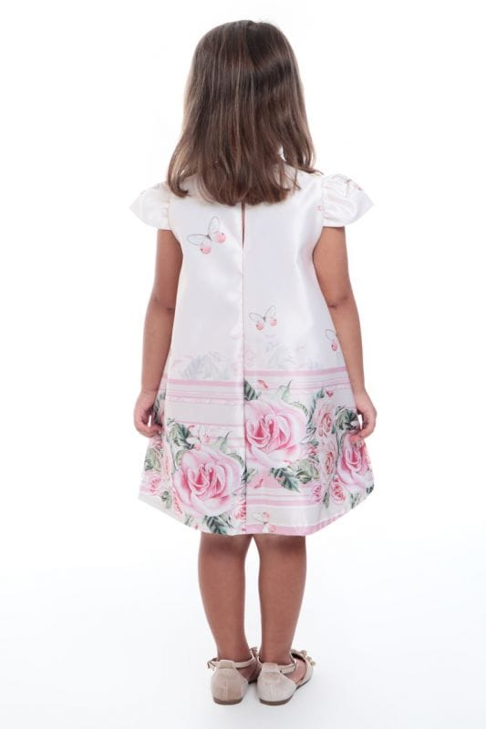 Vestido Infantil Flores e Borboletas