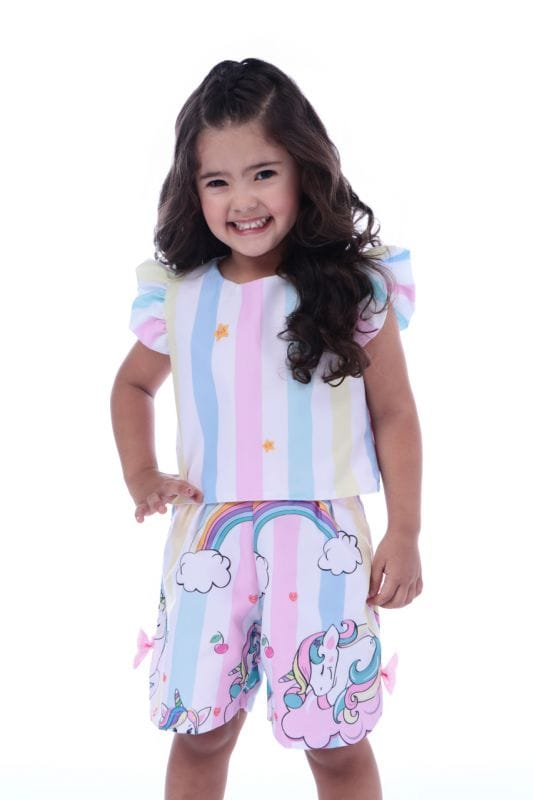 Conjunto Infantil Feminino Unicornio
