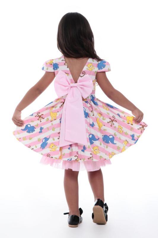 Vestido Safari Infantil Rosa
