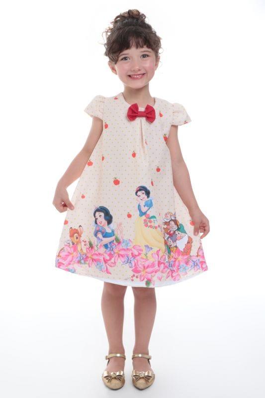 Vestido da Branca de Neve para festa infantil