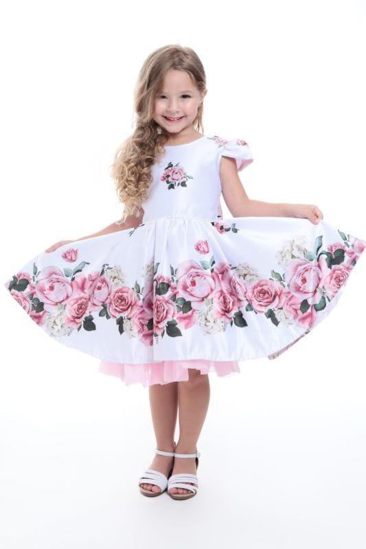 Vestido Floral Infantil Dama de Honra e Festa Floral