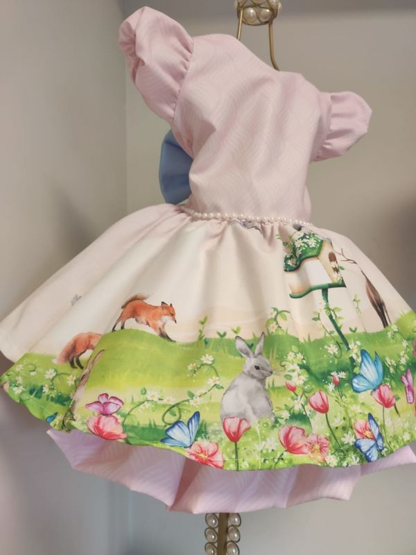 Vestido Infantil Bosque Encantado