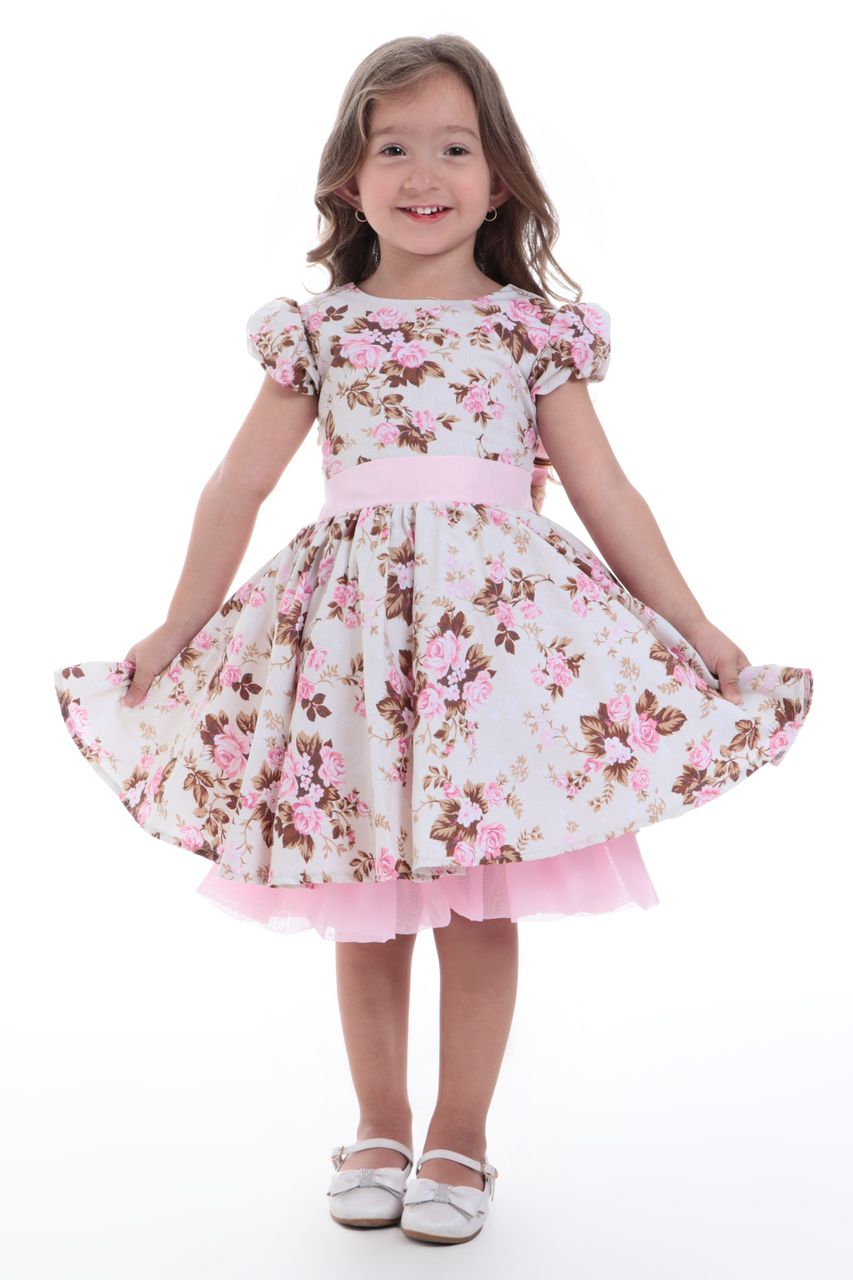 Vestido Floral Para Festa Infantil