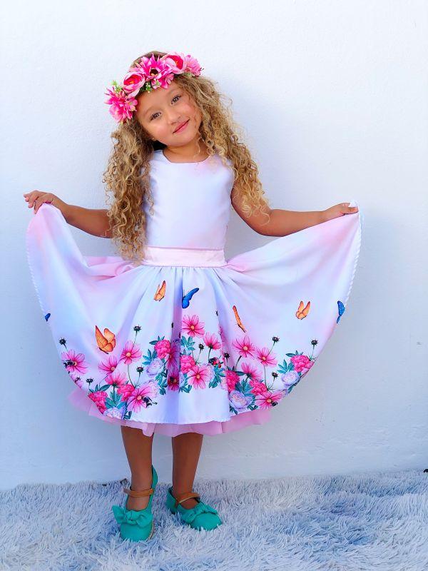 Vestido de Festa Infantil Para Aniversário