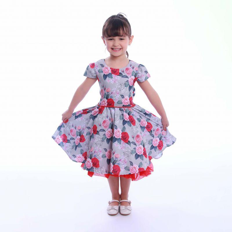 Vestido Florido Infantil