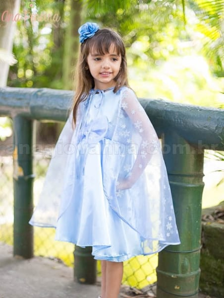 Vestido Elsa Infantil para festa
