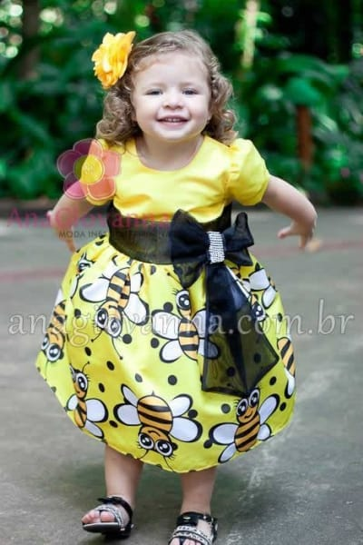 vestido abelhinha