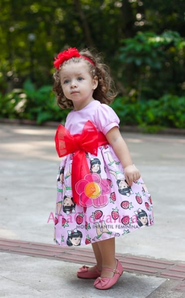 Vestido Infantil da Moranguinho Baby
