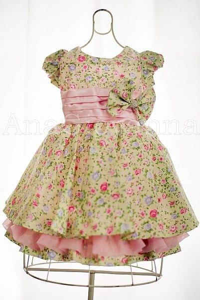 Vestido Infantil Jardim