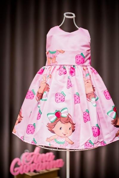 Vestido Infantil da Moranguinha Baby