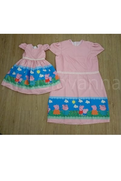 Vestidos Peppa Mãe e Filha