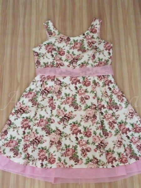 Vestido Adulto Floral Rosa