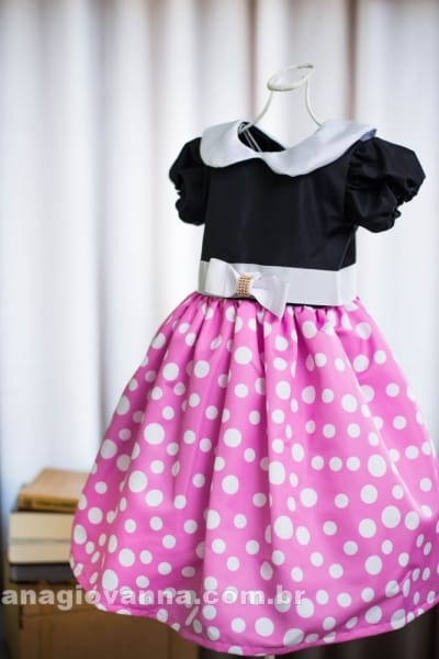 Vestido da Minnie rosa infantil