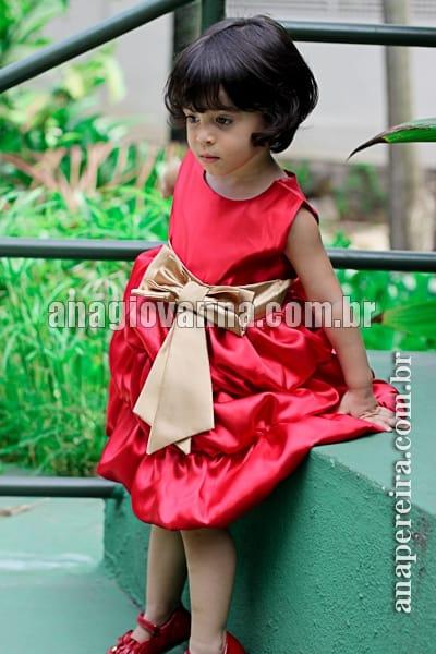 vestido vermelho infantil