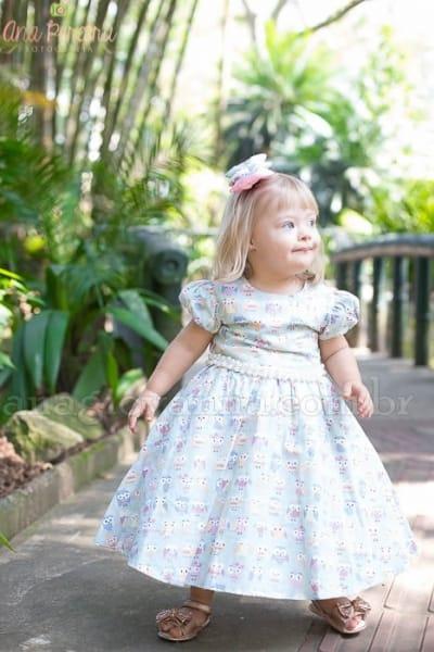 Vestido Infantil Corujinha
