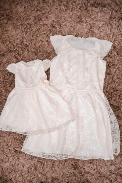 Vestidos Mãe e Filha Batizado