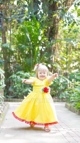 Vestido Infantil da Magali
