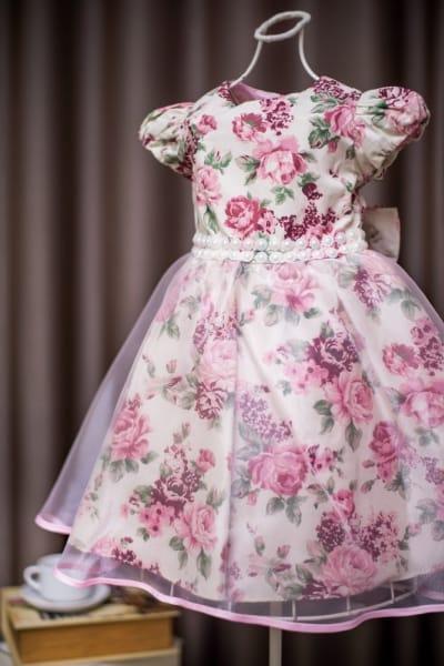 Vestido Infantil Princesa Floral