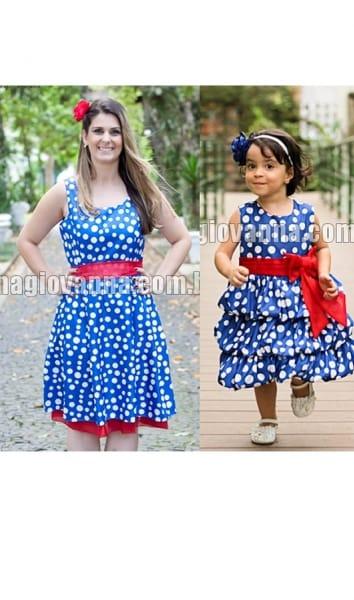 vestidos mãe e filha galinha pintadinha