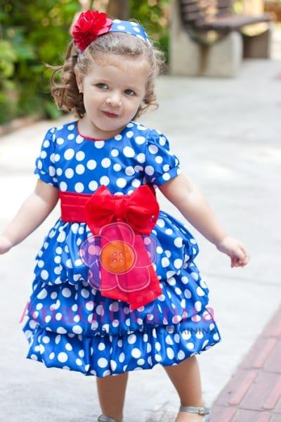 Vestido Infantil Galinha Pintadinha com mangas