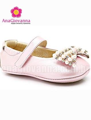 Sapato Infantil Rosa Luxo