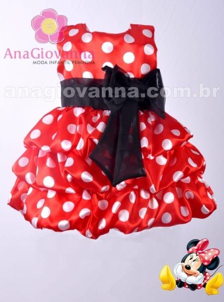 Vestido Infantil para Festa da Minnie
