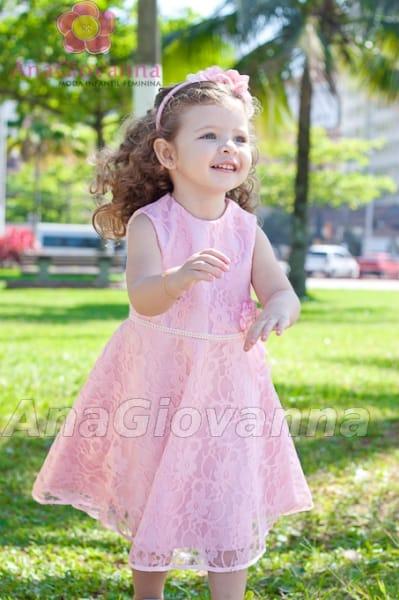 vestido infantil de renda