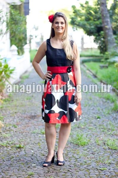 vestido adulto minnie vermelha