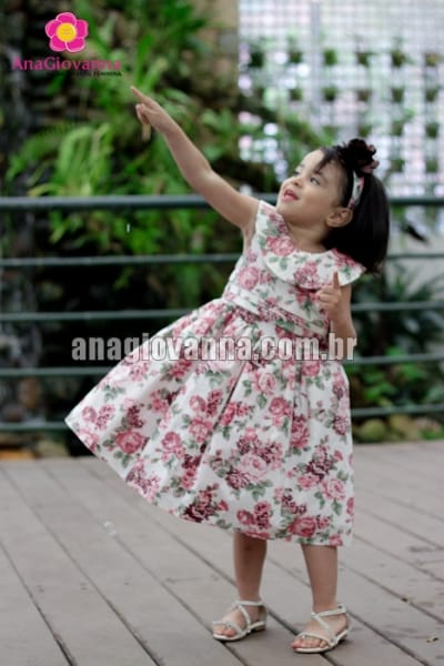 vestido de crian�a floral