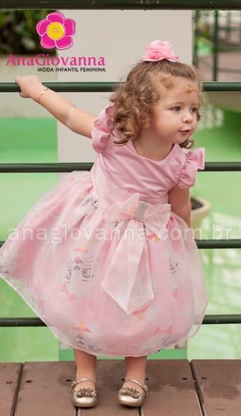 vestido infantil gatinha marie