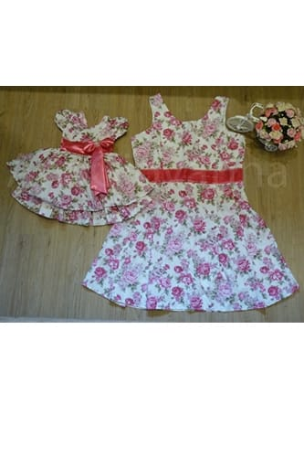 Vestidos Pink Mãe e Filha