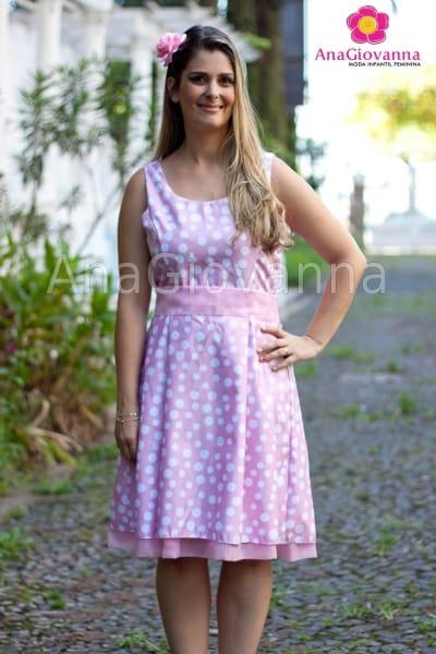 vestido adulto minni rosa