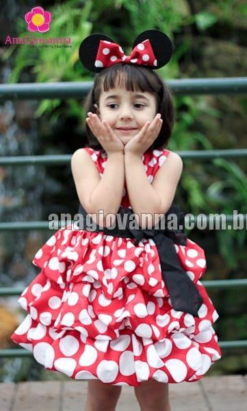Vestido Minnie Vermelha Balonê Degradê