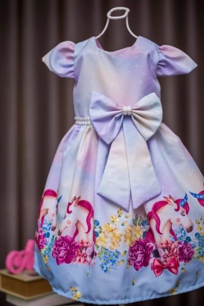Vestido Infantil Unicornio