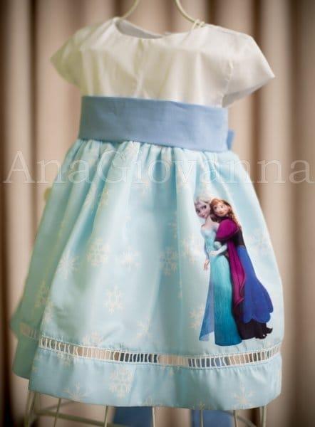 Vestido Ana e Elsa Frozen