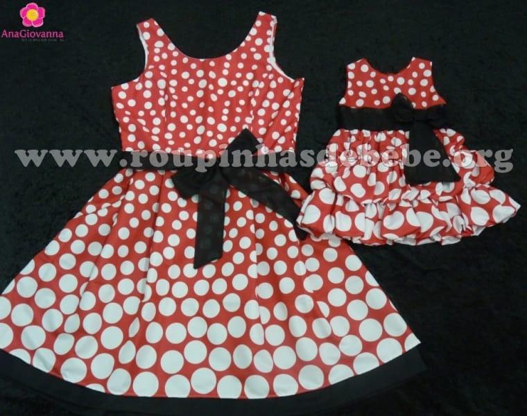 Vestidos Tal Mãe Tal Filha da Minnie Vermelha