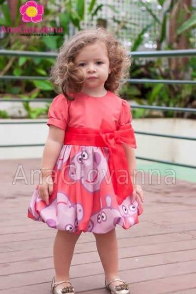 Vestido Infantil Balone Baby Peppa Pig